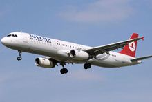מטוס איירבוס A321 של חברת טורקיש איירליינס. צילום:Arpingstone