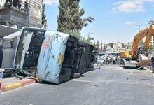 פיגוע הדריסה בירושלים ב-4 באוגוסט 2014. צילום: משטרת ישראל