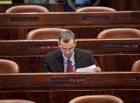 """ח""""כ יריב לוין במליאת הכנסת. צילום: באדיבות העוזרת הפרלמנטרית מיכל גרסטלר"""